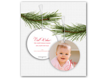 Joy Photo Ornament Christmas Card
